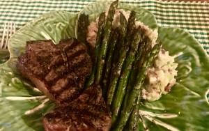 Fresh Asparagus and Lamb