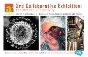 """Rutherford Arts Alliance """"The Science of Creativity"""" exhibit"""