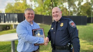 Murfreesboro Police Lt. Tom Sissom and Chief Michael Bowen (Submitted/MPD)