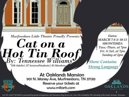 'Cat on a Hot Tin Roof' at Oaklands Mansion