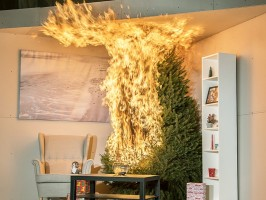 In 2017, NIST demonstrated how an overly dry Christmas tree could be consumed by flames in less than a minute, turning a lovely yuletide setting into a deadly menace.