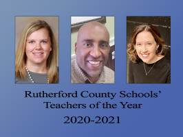 Rutherford County Schools announces 2020-2021 Teachers of the Year