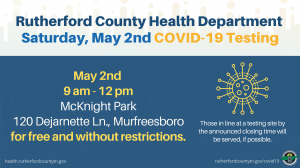 Rutherford County Health Department COVID-19 Testing