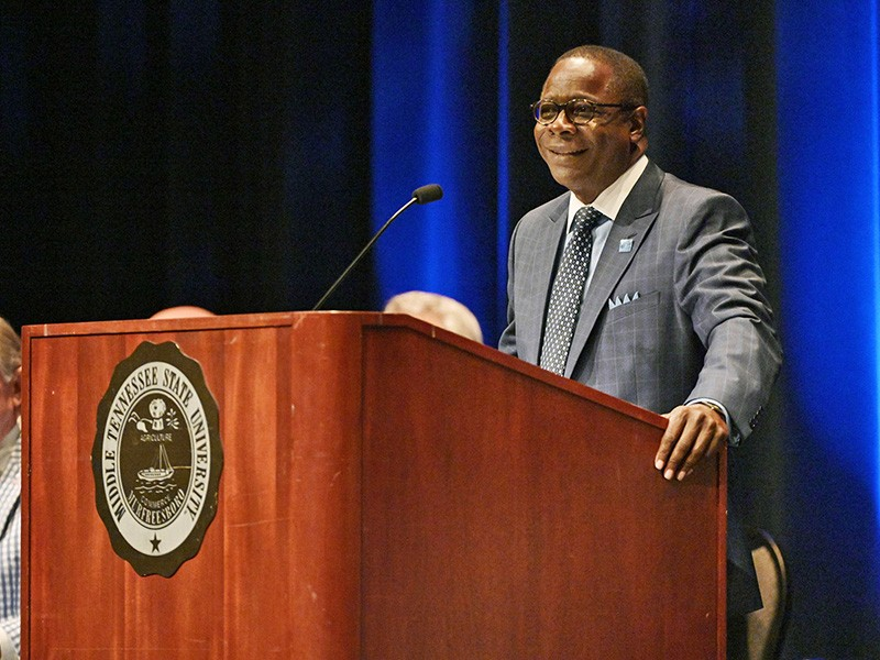 Dr. Sidney A. McPhee is president of Middle Tennessee State University.