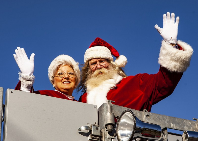 Santa at Smyrna Christmas Parade