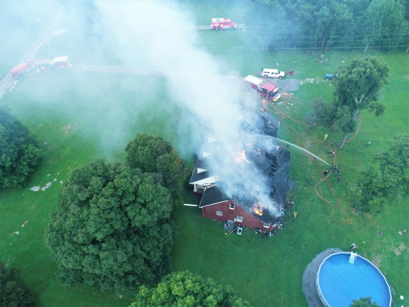 Rutherford County Fire-Rescue respond to Deer Run Road fire
