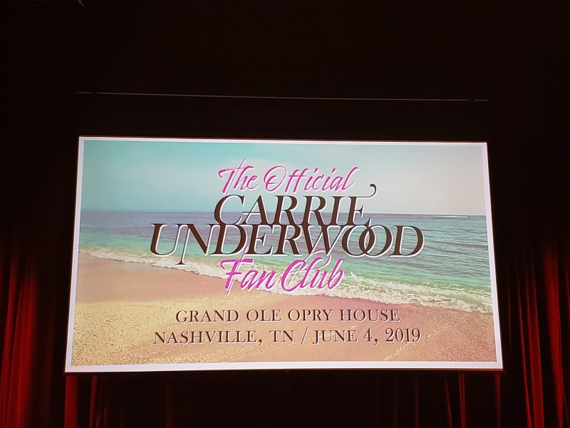 Carrie Underwood Fanclub party 2019
